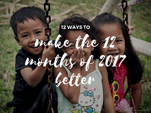 12 ways to make the 12 months of 2017 better