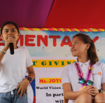 Joyce Pring gets emotional after students surprise her with cards, song