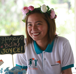 Joyce Pring celebrates birthday with World Vision kids