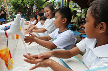 World Vision donates hand washing facilities, hygiene kits to schools