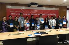DSM Manila LLP makes a difference, sponsors 100 World Vision children