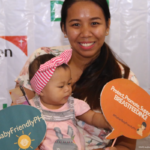 World Vision's Mother-Baby Friendly Philippines project kicked off nationwide mall caravan in Trinoma