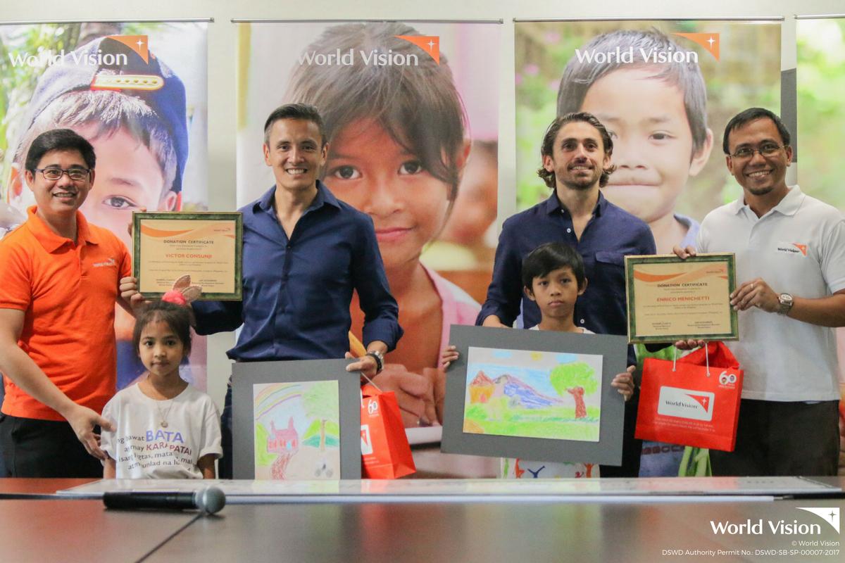 Enrico Menichetti and Victor Consunji go the extra mile for children in need