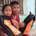 Children receive school supplies for new school year