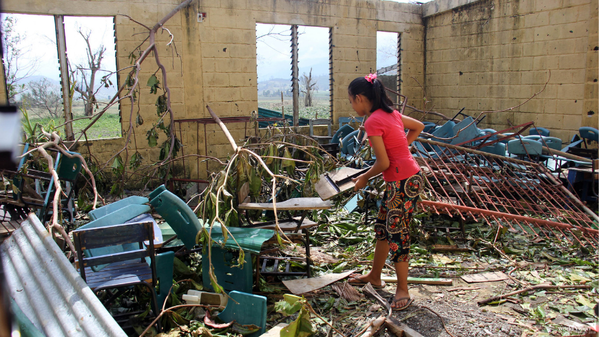 Typhoon Ompong left us with damaged classrooms and books