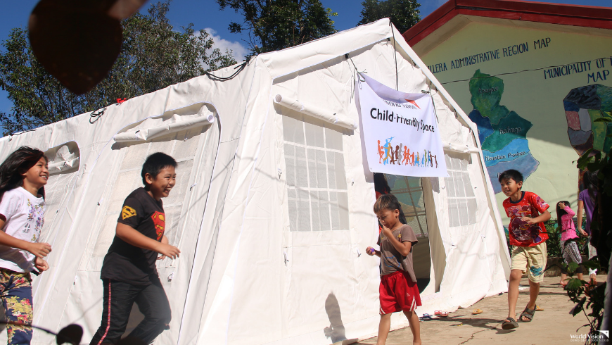 World Vision sets up child-friendly space in Itogon, Benguet
