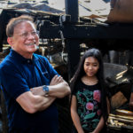 WVDF Board Chair, Chief Justice Puno (Ret.) finds inspiration from a child in Malabon area programme