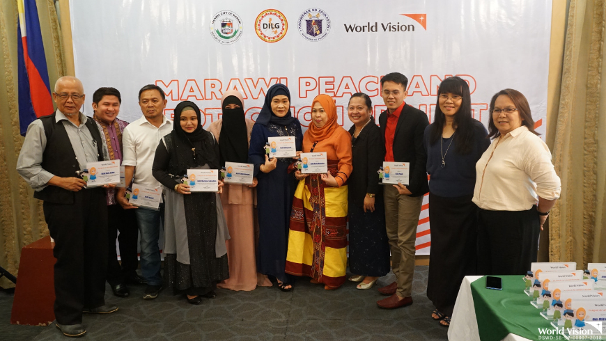 World Vision Development Foundation, Inc. recognized the effort of its partners in supporting the Marawi Peace and Protection Project during a ceremony held at Marianne Suites, Cagayan de Oro City last June 28, 2019.