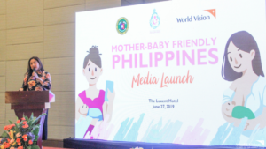 Last June 27, 2019, World Vision relaunched the Mother-Baby Friendly Philippines (MBFP) web-based and mobile app which can be used to promote breastfeeding and report Milk Code violations.