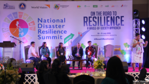 elegation from World Vision Development Foundation during the Disaster Resilience Summit being held at Novotel Manila, Quezon City.