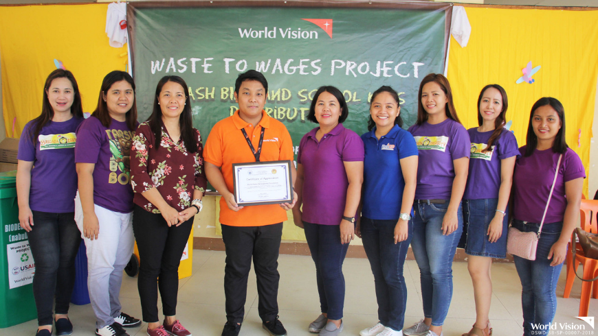 Waste to Wages, a project of World Vision and USAID, aims to support the government's efforts on proper waste disposal.