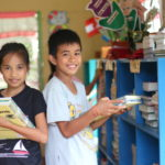 Students enjoy new and improved World Vision-donated Reading Hubs