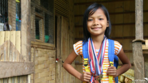 Janine, a World Vision Philippines sponsored child understood and never complained of the difficult journey she has to take everyday. She even got more motivated to study hard and be present at school because of their disadvantaged situation.