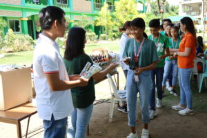 "Students and teachers from four World Vision partner schools in Batangas celebrate the Global Hand washing Day with group games similar to the TV program ""Amazing Race""."