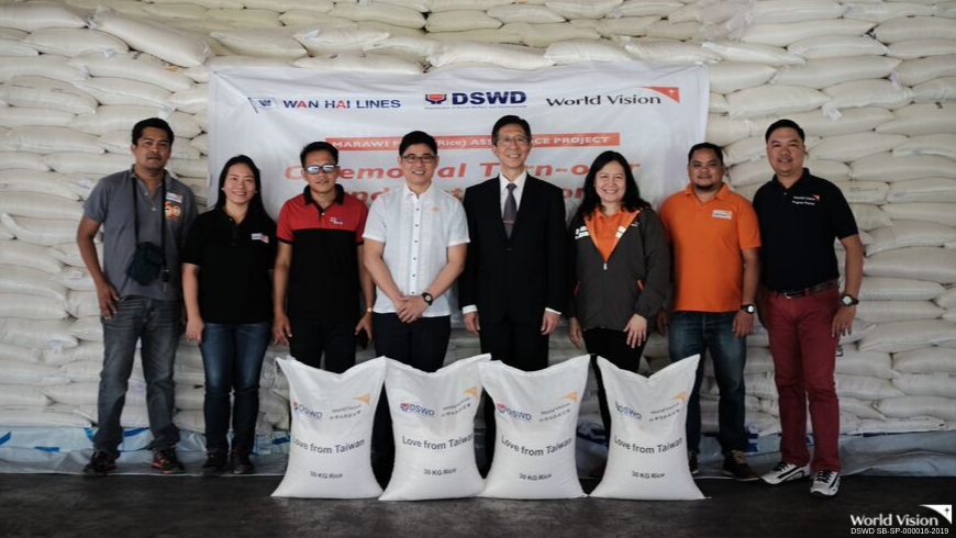 At least 600 received a sack of rice from the Taiwan government donated thru World Vision and Department of Social Welfare and Development (DSWD) in Region 10, last September 26, 2019.