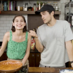 Jasmine Curtis-Smith, Erwan Heussaff cook spaghetti for children's Noche Buena