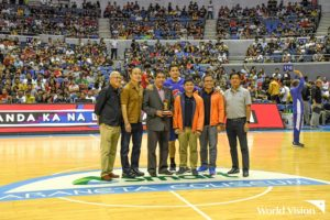 World Vision salutes PBA with One For Children plaque of appreciation