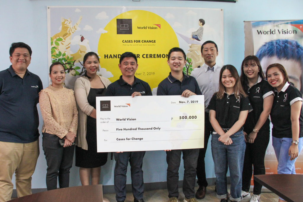 OWNDAYS turns over 'Cases for Change' proceeds to World Vision