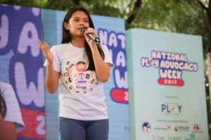 Actress Bianca Umali stresses the importance of play in child development 5 - Different government agencies and child-focused NGOs officially open the National Children's Month by throwing paper airplanes.