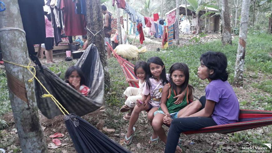 Children endure the aftermath of the North Cotabato earthquake
