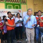 U.S. Ambassador Sung Kim visits World Vision relief ops for Taal Volcano-affected families in Batangas