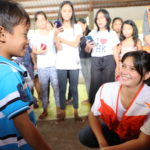 Kapuso star Bianca Umali visits children affected by Taal Volcano eruption