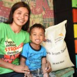 World Vision and DSWD distribute 10,000 rice sacks to quake-affected families in North Cotabato